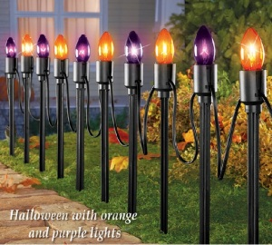 another idea to create a sparkly entrance to your home is to make this cute collection of halloween pumpkins pictured below youll want to first - Halloween Pathway Lights